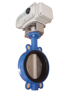 Wafer Type Electric Butterfly Valve DN 250mm For Drink Water / Air
