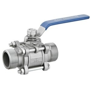 Female Reduced Bore Ball valve 3 piece Screw-On Lever operated