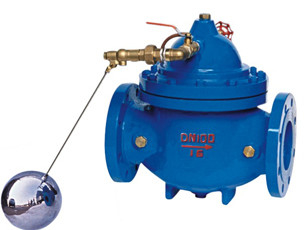 Modulating Float Pressure Reducing Valves For Control The Tank Level Automatic