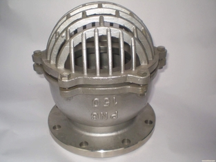 الصين ANSI 150 RF Stainless Steel Foot Valve SS 316 Body And Bonnet Spring And Mesh المزود