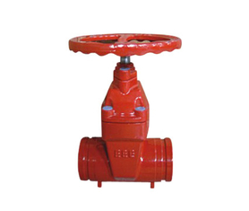 DN 50 ~ 300 Anti -  corrosion Resilient Seated Gate Valve With Groove End For Metallurgy